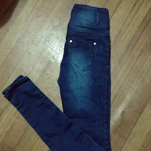 Ink mid distressed jeans